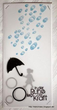 Meine Motivstanzer: Kraft-Karten Usin Designs by Ryn: Water Droplets