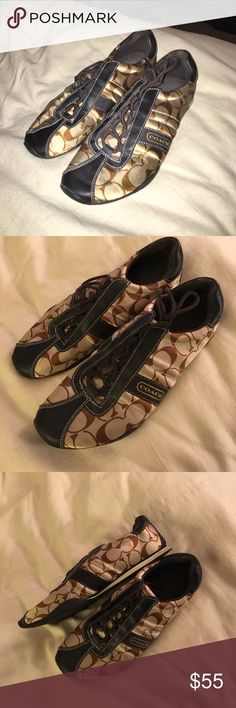 Coach sneakers Coach sneakers. silky. size 9. only been worn a handful of times. Coach Shoes Sneakers
