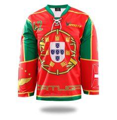 a49b4ddae51 Sublimated Portugal Ice Hockey Jersey Hockey Pants