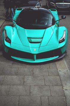 Ferrari LaFerrari - Tiffany blue Rari. I would love to put a bow on it and surprise her with it. ferrari #experiencia http://www.regalosparahombres.com/tienda/conducir-ferrari