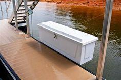 dock box, boat storage, dock storage, fiberglass dock box More