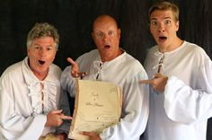 The Reduced Shakespeare Company today. Austin Tichenor, Reed Martin, and Teddy Spencer