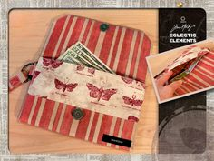 Eclectic Elements by Tim Holtz for Coats - Fabric Wallet | Sew4Home