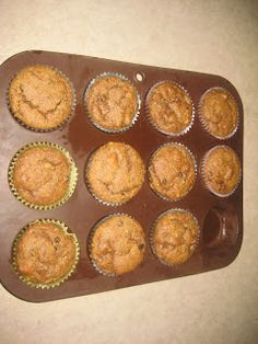 Flavorful and Fit: Paleo Pumpkin, Walnut, Chocolate Chip Muffins or Loaf (Nuts and Chocolate Optional)