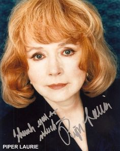 Image detail for -Piper LAURIE Autograph