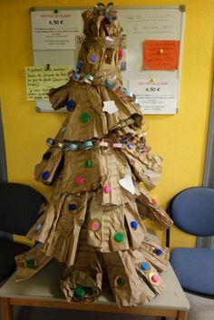 sapins de Noël recyclés chez Christine F: photos 2014 - école petite section