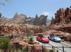 7) RADIATOR RACERS: The star attraction in Cars Land takes you on a mellow ride through scenes from the movie 'Cars,' and then you're suddenly going 45 miles per hour and screeching down the highway. Hold on! (Paul Hiffmeyer / Paul Hiffmeyer)