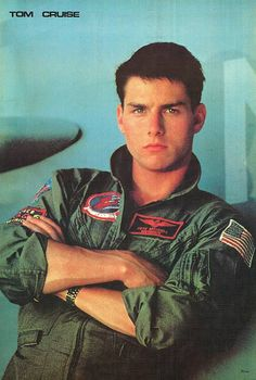 """Tom Cruise as Maverick in Top Gun. I can almost hear Kenny Loggins' """"Danger Zone"""". Top Gun Movie, I Movie, Movie Stars, Iconic Movies, Old Movies, Great Movies, Tom Cruise Young, Actrices Hollywood, Bollywood Actors"""