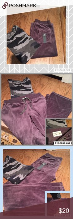 """✨Vintage Havana velvet sweat pants✨ Cool pockets in the back, drawstring at the waist line. Flare in the legs. 80-20/cotton-Polly which feels like a """"velour"""". Gentle ware but plenty of life life! Vintage Havana Pants Track Pants & Joggers"""