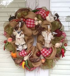 Chefs Kitchen Wreath by HertasWreaths on Etsy, $145.00