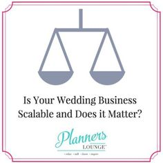Is your business scalable? In the wedding industry scalability happens when a business owner can replace him/herself from doing all of the servicing of clients. By having more people do what you do (and do it profitably) means that you are able to scale your business. You are able to grow your business by growing your infrastructure. I'm talking about this topic today on @plannerslounge : http://ift.tt/1LJ7A9B (michelle) #weddingpros #weddingbiz PS- we'll be dipping into this at…