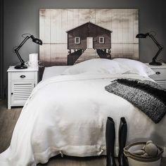 Tête de lit 160 en lattes de bois