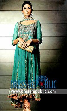 Aqua Fiesta, Product code: DR1899, by www.dressrepublic.com - Keywords: Latest Salwar Kameez Designs, Pakistani Shalwar Kameez Online
