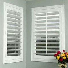 February Sale: 10% Off All Shutters on Blinds.com. Pictured: Blinds.com Economy Wood Plantation Shutters