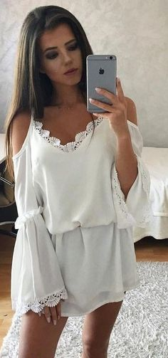 #summer #musthave #outfits | Fresh White Dress