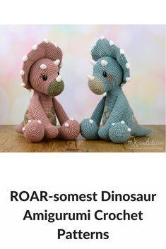I've done a roundup of the cutest dinosaur amigurumi crochet patterns.
