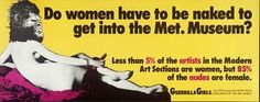 The classic Guerrilla Girls sticker