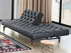 The Oldschool Retro Sofa Bed was designed by Per Weiss for Innovation. The Danish designer has worked for the company since 1989 creating modern furniture, he a Black Leather Sofa Bed, Chesterfield Sofa Bed, Couch Sofa, Small Guest Rooms, Retro Sofa, Types Of Sofas, Oldschool, Loft, Rooms Home Decor