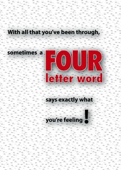 Welcome them home with a little humor available on 2myhero four letter word welcome home greeting card m4hsunfo