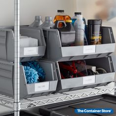 Our Utility Narrow Stackable Plastic Bins are modular, stackable, versatile, durable and affordable. Use them in your home for storing everything from toys to tools to medications. Stack several to utilize vertical space. Small Space Organization, Plastic Bins, Garage Storage, Your Space, Small Spaces, Home Appliances, Tools, Grey, House Appliances