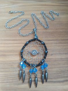 Hey, I found this really awesome Etsy listing at https://www.etsy.com/listing/270935446/dream-catcher-necklace-dreamcatcher