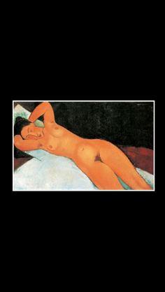 "Amedeo Modigliani - "" Nu au collier "", 1917 - Huile sur toile - 73 x 116 cm - Solomon R. Guggenheim Museum, New York"