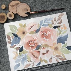 Aquarell Hair – Care Routine which is a must for Beautiful hair. Watercolor Flowers Tutorial, Easy Watercolor, Watercolor Cards, Watercolour Painting, Floral Watercolor, Watercolors, Painting Flowers, Paint Photography, Illustration