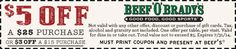 Pinned July 11th: $3 off $15 and more at Beef OBradys #restaurants #coupon via The #Coupons App