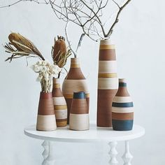 Steven Alan Stripe Vase - Tall | west elm
