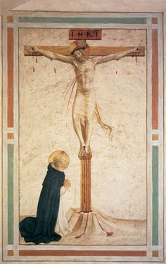 Fra Angelico, Crucifixion with St. Dominic  Italian, 1442  Florence, Convent of San Marco, Cell 17