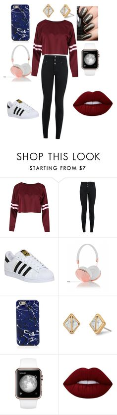 """Untitled #79"" by crazisuki on Polyvore featuring New Look, adidas, Frends, Marc Jacobs, Stella & Dot and Lime Crime"
