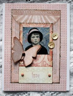 LOVE Collage Greeting Card.