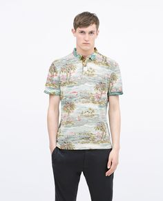 Tropical PRINTED POLO SHIRT from Zara