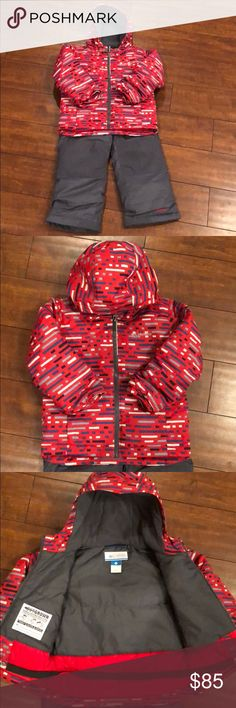 Boys Columbia Frosty Slope Snowsuit Brand new never worn (without tags). 4T Columbia 2 piece snow suit. Ski bib with adjustable straps with a matching all weather hooded jacket. Columbia Jackets & Coats