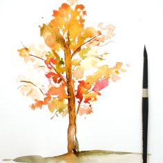 Learn to create a beautiful watercolor fall tree from this easy to follow tutorial on the blog. The colors are gorgeous and you can create one in no time.
