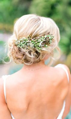 Most Romantic Bridal Updos And Wedding Hairstyles ❤ See more: http://www.weddingforward.com/romantic-bridal-updos-wedding-hairstyles/ #weddings