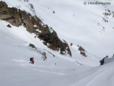 Matt Kamper backcountry skiing on Mount Tweto