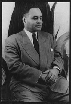 Ralph Bunche is the first African American Nobel Peace Prize winner. He was awarded in 1950 for his successful mediation of a ceasefire between four Arab nations and the State of Israel. (photo: Ralph Bunche Carl Van Vechten Photographs Collection, Library of Congress)