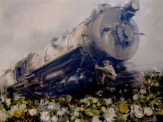 """Quinn's Iron Horse and Rose Strewn Course to Paint Creek"" - Sarah McRae Morton"