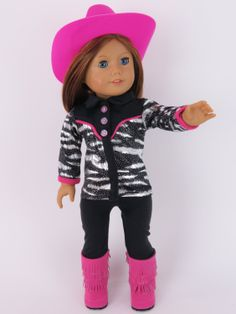 "Amazon.com: Cowgirl Western Complete Outfit -Fits 18"" American Girl Dolls, Gotz, Our Generation Madame Alexander and others. HAT, SHIRT, LEG..."