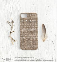 Tribal iPhone 4 4s 5 case, Aztec iPhone 4 4s 5 case, Indian African boho iPhone 4 4s 5 case, gift for men, gypsy, white painted wood (c64)