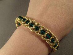 Emerald+City+Flat+Spiral+Bracelet+Free+Beading+Pattern