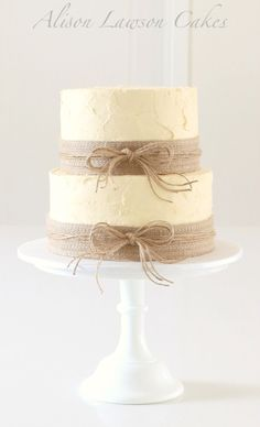 burlap cake decorations
