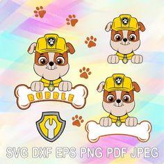 Paw Patrol Badge, Paw Patrol Party, Paw Patrol Birthday, Cumple Paw Patrol, Paw Patrol Coloring Pages, Diy Birthday Cake, Badge Template, Dog Bones, Cute Cookies