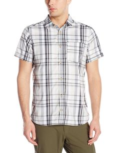 adidas outdoor Men's Edo Check Short Sleeve Shirt -- Check out this great image  : Camping clothes