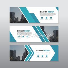 Blue abstract corporate business banner template, horizontal advertising business banner layout template flat design set clean modern geometric abstract background layout - Buy this stock vector and explore similar vectors at Adobe Stock Logos Vintage, Logos Retro, Free Banner Templates, Layout Template, Ad Design, Layout Design, Layout Print, Logos Color, Logos Photography