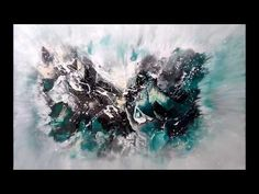 Abstraktes Malen ganz einfach Abstract Art Painting speed and easy - YouTube