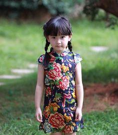 Kids Cheongsam Dress HZJ0004DB