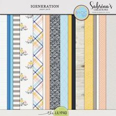 iGeneration   Paper Pack Digital Scrapbooking, Packing, Layout, Learning, Paper, Creative, Bag Packaging, Page Layout, Studying