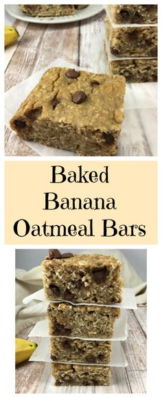 Banana Baked Oatmeal Bars Low-fat,low-calorie,freezer friendly